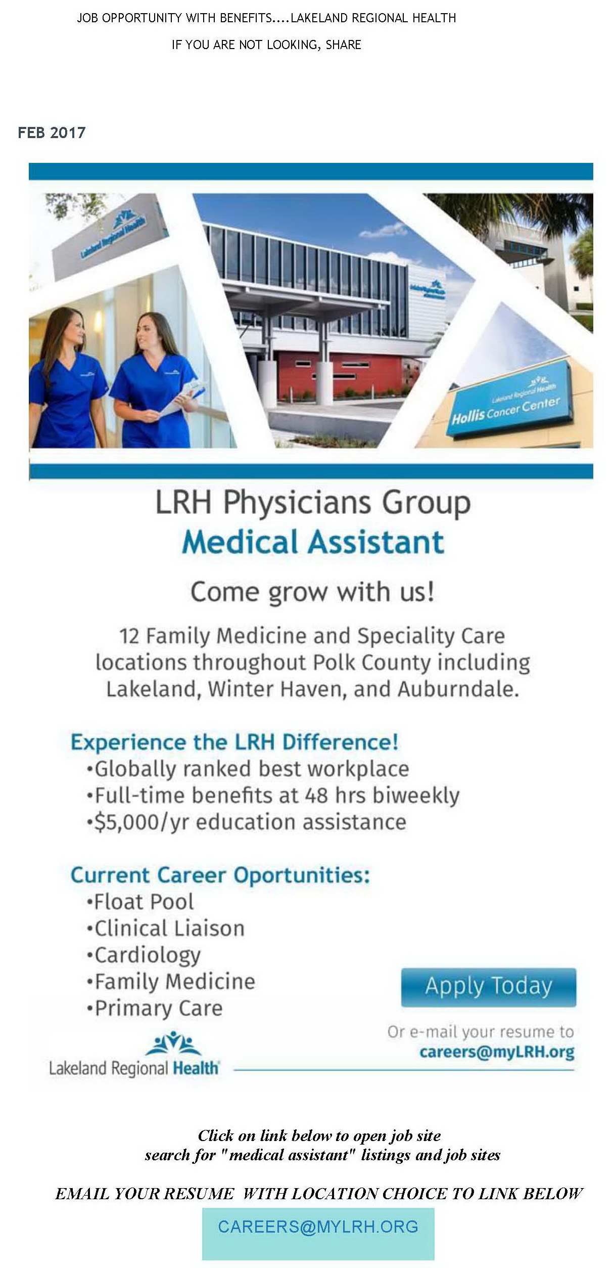 central florida chapter - Clinical Liaison Jobs